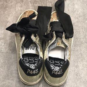 p448 Shoes - New P448 Ralph platinum sneaker low top size 39